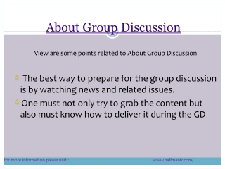Content about group discussion
