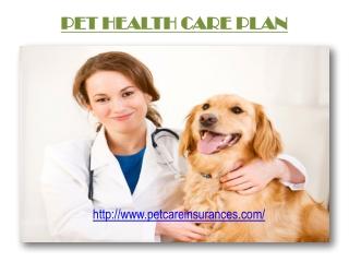 Pet Health Care Plan
