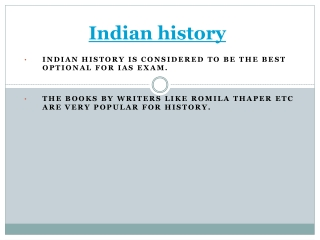 About indian history