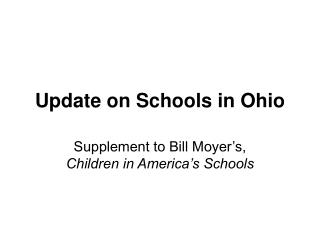 Update on Schools in Ohio