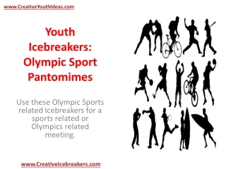Youth Icebreakers - Olympic Sport Pantomimes