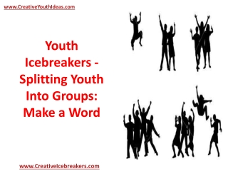 Youth Icebreakers - Splitting Youth Into Groups: Make a Word