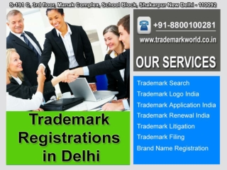 Trademark Registrations in Delhi