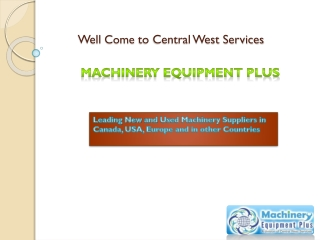 Buy/Sale Used Machinery and Equipment Global Suppliers – Mac
