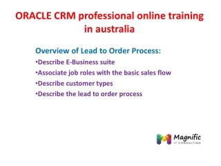 ORACLE CRM practical online training in australia