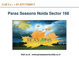 Paras Season Noida | For booking discount call 97177 68811