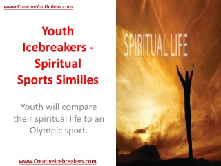 Youth Icebreakers - Spiritual Sports Similies