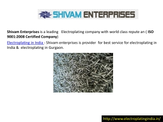 electroplating in india