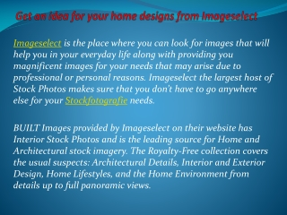 Get an idea for your home designs from Imageselect