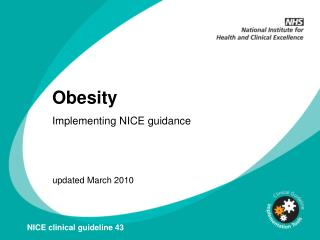 Obesity Implementing NICE guidance