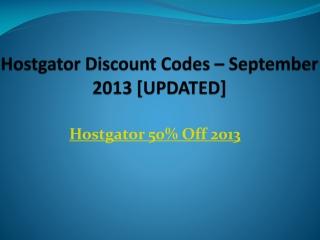 Hostgator 50% Off Discount