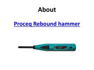 Proceq Rebound Hammer