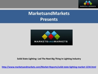 Solid State Lighting Market