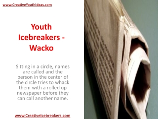 Youth Icebreakers - Wacko