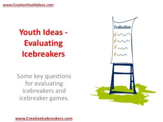Youth Ideas - Evaluating Icebreakers