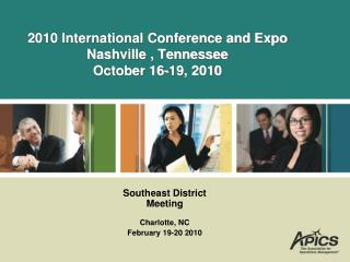 2010 International Conference and Expo Nashville , Tennessee October 16-19, 2010