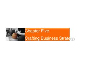 Chapter Five Crafting Business Strategy