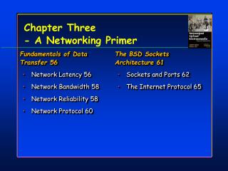 Chapter Three  - A Networking Primer