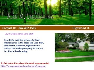 Lawn Maintenance Lake Bluff