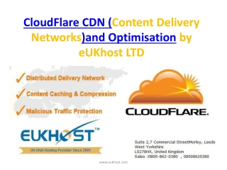 CloudFlare CDN (Content Delivery Networks)and Optimisation b