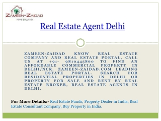 Real Estate Agent Delhi