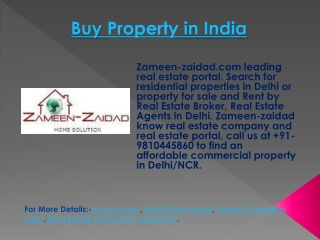 Buy Property in India