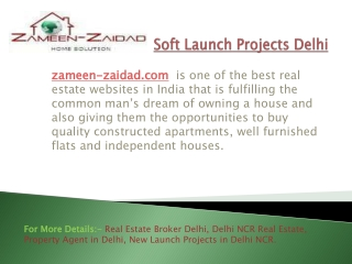 Soft Launch Projects Delhi
