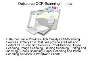 Outsource OCR-Scanning in India