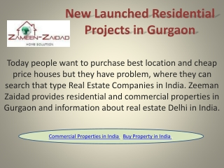 New Launched Residential Projects in Gurgaon