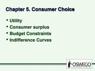 Chapter 5. Consumer Choice