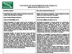 F-25 CHECK LIST DE DOCUMENTOS PARA CONSULTA  BIBLIOTECA PROYECTO  475