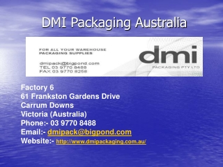 DMI Packaging Australia offers Washroom Products