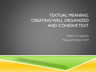 Theme-rheme  in popular-scientific texts