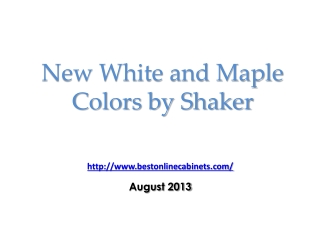 White and Maple shaker colored Kitchen Cabinets
