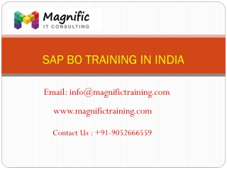 sap bo online training canada@www.magnifictraining.com