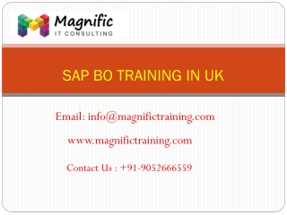 sap bo online training uk@www.magnifictraining.com