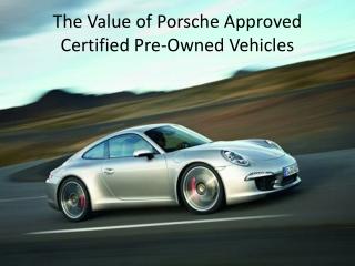 The Value of CPO Porsches