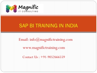 sap bi online training india@www.magnifictraining.com