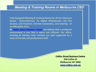 Training Rooms in Melbourne