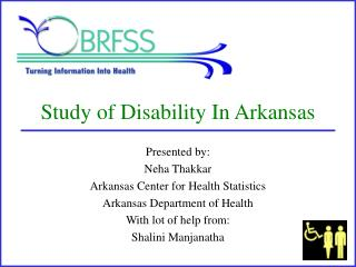 Study of Disability In Arkansas