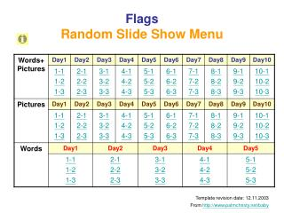 Flags Random Slide Show Menu