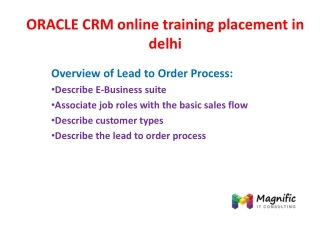 ORACLE CRM online training placement in delhi in delhi