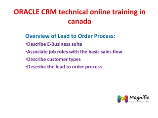 ORACLE CRM technical online training in canada