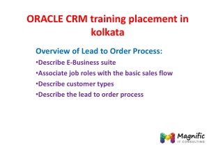 ORACLE CRM online training placement in kolkata