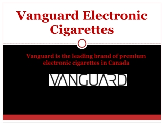 Vanguard E Cigarettes
