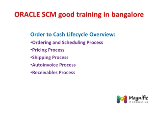 oracle scm good training in bangalore
