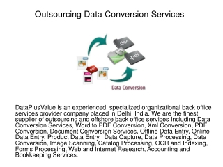 Outsourcing Data Conversion Services