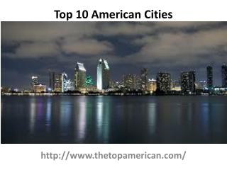 Top Cities In American