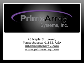 PrimeArray Data Storage Products