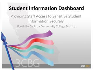 Student Information Dashboard